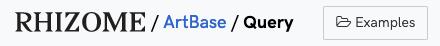 A screenshot of the query service top navigation bar